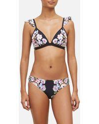 5e0b90a822 Kenneth Cole Dark Romance Ots Ruffle Push-up Bikini Top (black ...