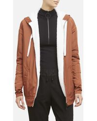 Kenneth Cole Sherpa Lined Hoodie Jacket - Multicolor