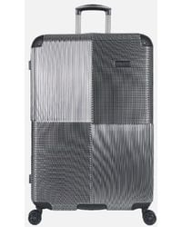 Kenneth Cole Lexington Ave Silver 28 Inch Large Upright Suitcase - Black
