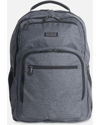 """Kenneth Cole """"heathered Triple Compartment 17.3"""""""" Computer Business Backpack"""" - Gray"""