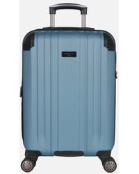 Kenneth Cole Saddle Rock Teal Carry-on Upright Suitcase - Blue