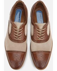 Kenneth Cole Futurepod Medallion Toe Leather Shoe With Rebound System Ip - Brown