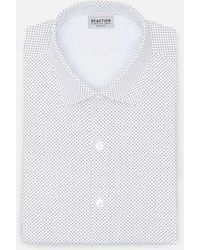 Kenneth Cole Reaction - Slim Tek Fit Spread Collar Dress Shirt In Dashed Chevron - Lyst