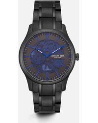 Kenneth Cole - Gunmetal Round Stainless Steel Watch - Lyst