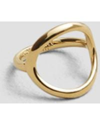 Kenneth Cole - Goldtone Circle Ring - Lyst
