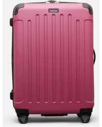 "Kenneth Cole Renegade 28"" Lightweight Hardside Expandable 8-wheel Spinner Checked Luggage, Magenta - Multicolor"