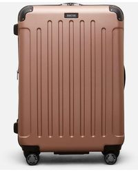"Kenneth Cole Renegade 28"" Lightweight Hardside Expandable 8-wheel Spinner Checked Luggage, Rose Gold - Multicolor"