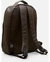 """Kenneth Cole """"distressed Echo Faux Leather Slim Single Compartment 15.6"""""""" Laptop Backpack"""" - Brown"""