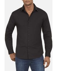 Kenneth Cole - Long Sleeved Cotton Button Down Shirt - Lyst