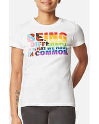 Kenneth Cole Women's Being Different Pride Tee - White