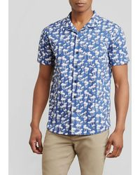 Kenneth Cole Reaction - Palm Tree Print Shirt - Lyst