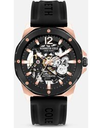 Kenneth Cole Black And Rose Gold Automatic Watch