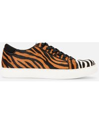 Kenneth Cole Kam Animal Print Hair Calf Sneaker - Multicolor