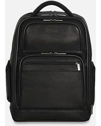 Kenneth Cole Rea Black Leather Computer Backpack