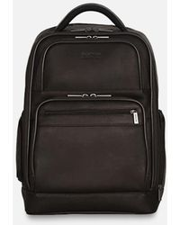 Kenneth Cole Ease-back Leather Computer Backpack - Brown