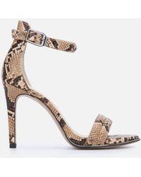 Kenneth Cole Brooke Snake Print Sandal Heel - Brown