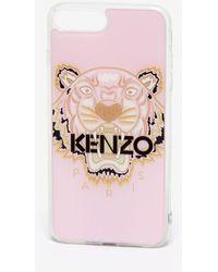 KENZO Coque iPhone 8 Tigre - Rose