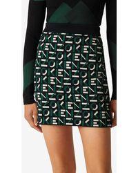 KENZO Sport Monogram Jacquard Miniskirt - Green