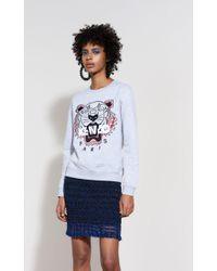 c835d9eb3 Lyst - Kenzo Mesh Tiger Sweatshirt in White