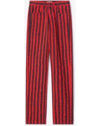 KENZO Gestreifte Jeans - Rot