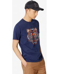 Fila Marconi T shirt à bordures contrastantes Bleu clair