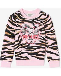 KENZO Sweatshirt Tiger Stripes - Pink