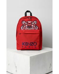 KENZO Mini Sac à Dos Tigre Canvas - Rouge