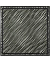KENZO Monogrammed Silk Square - Black