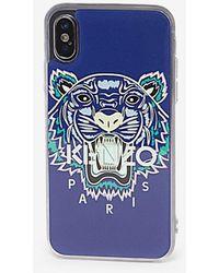KENZO IPhone X/XS Case Tiger - Blau