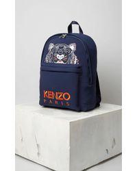 KENZO Grand sac à dos Tigre néoprène - Bleu