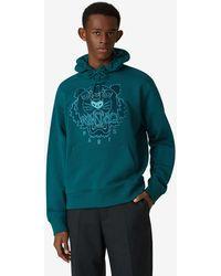 KENZO Kapuzen-Sweatshirt Tiger - Blau