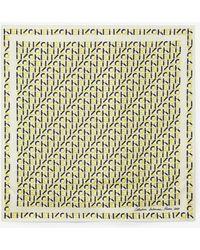 KENZO Monogrammed Silk Bandana - Multicolor