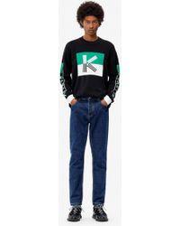 KENZO Pull K colour block - Noir