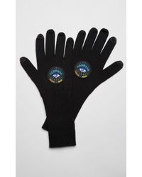 KENZO 'holiday Capsule Collection' Wooly Eye Gloves - Black