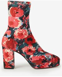 KENZO Glove 'watercolours' Platform Ankle Boots - Multicolour