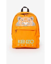 KENZO Large Tiger Canvas Backpack - Orange