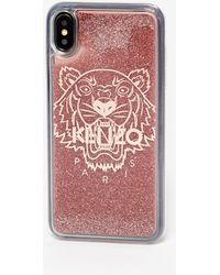 KENZO Coque pailletée iPhone XS max Tigre - Multicolore