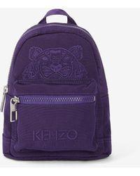 KENZO Mini-Stoffrucksack Kampus Tiger - Lila
