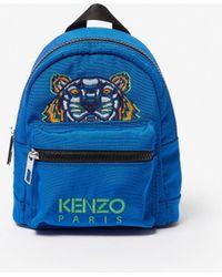 KENZO Grand Sac à Dos Tigre Canvas - Bleu