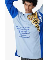 KENZO T-shirt oversize x KANSAIYAMAMOTO - Bleu