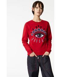KENZO Sweatshirt Eye brodé - Rouge