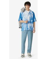 "KENZO Oversize-Hemd Hawaiian Graffity"" Capsule High Summer"" - Blau"