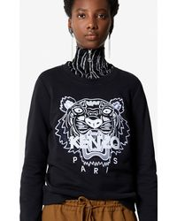 KENZO Sweatshirt Tiger - Schwarz