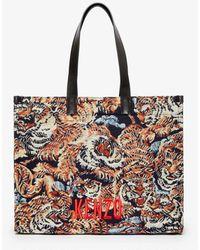 KENZO Shopper Tote Bag Multicolor