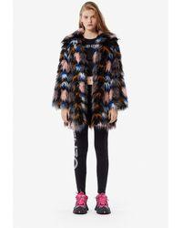 KENZO Faux Fur Coat - Multicolor