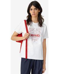 KENZO Tiger Loose-fitting T-shirt - White