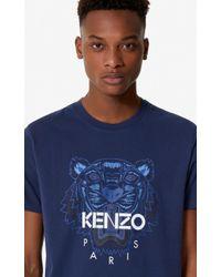 KENZO T-shirt Tigre - Bleu
