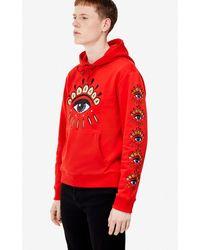 KENZO Sweatshirt multi Eye à capuche - Rouge