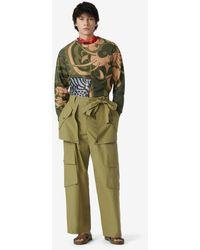 KENZO Wide Cargo Trousers - Green