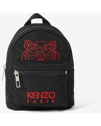 KENZO Kampus Tiger Canvas Mini Backpack - Black